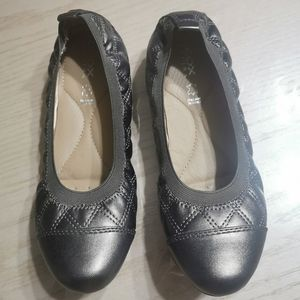 GEOX Respira Leather Ballet Flats